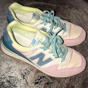 Retro suede pastel new balance sneakers